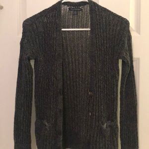 American Eagle Black Knit Cardigan size XS
